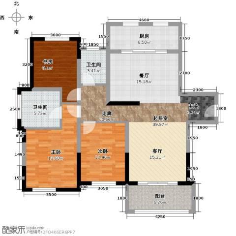 宝华铂翠豪庭3室0厅2卫1厨110.00㎡户型图