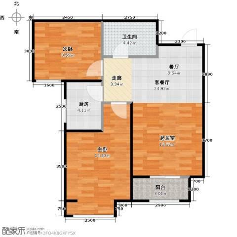 香城丽景・悦动社区2室1厅1卫1厨85.00㎡户型图