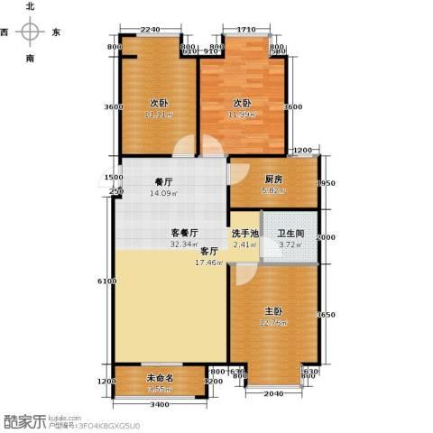 香城丽景・悦动社区3室1厅1卫1厨111.00㎡户型图