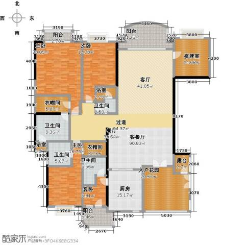 信达阳光海岸4室1厅4卫1厨280.00㎡户型图