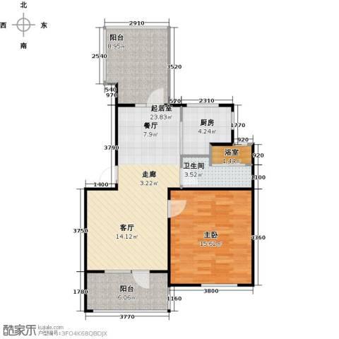 朗诗未来树1室0厅1卫1厨65.00㎡户型图