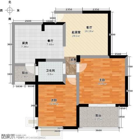 蓝堡公馆2室0厅1卫0厨160.00㎡户型图