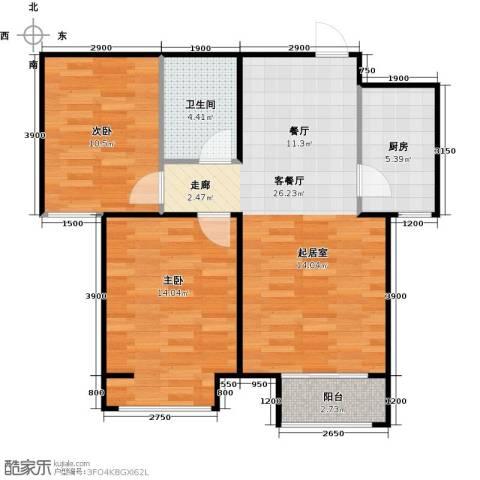 香城丽景・悦动社区2室1厅1卫1厨90.00㎡户型图