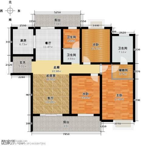 路劲翡丽湾3室0厅2卫1厨150.00㎡户型图