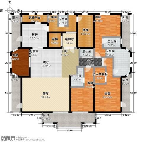 新江湾城首府4室0厅5卫1厨267.00㎡户型图