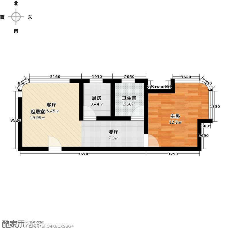 璞丽湾珑苑--104套户型1室1卫1厨