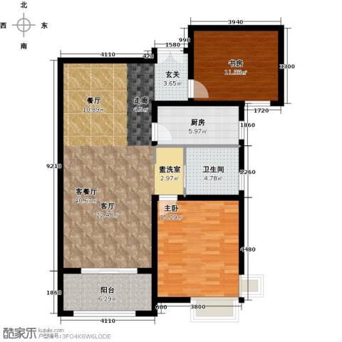 宝地东花园2室1厅1卫1厨96.00㎡户型图