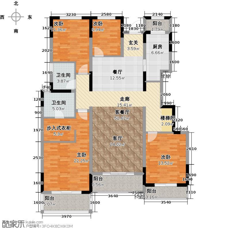 复地紫藤里157.00㎡户型4室1厅2卫1厨
