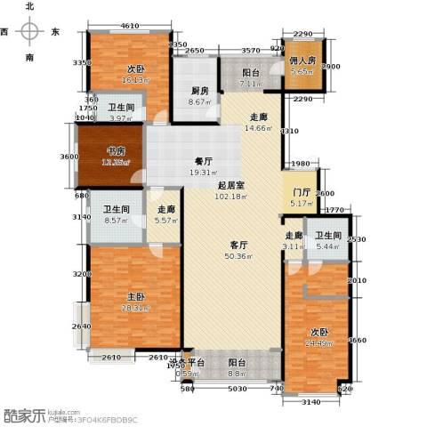 夏威夷水岸1号4室0厅3卫1厨242.00㎡户型图