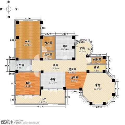 夏威夷水岸1号1室0厅1卫1厨161.00㎡户型图