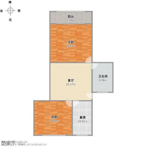 龙港小区2室1厅1卫1厨131.00㎡户型图