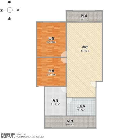 车站新村2室1厅1卫1厨158.00㎡户型图