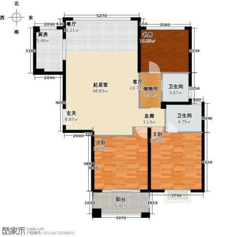 盛世御珑湾3室0厅2卫1厨115.00㎡户型图