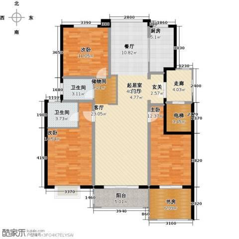 盛世御珑湾4室0厅2卫1厨123.00㎡户型图