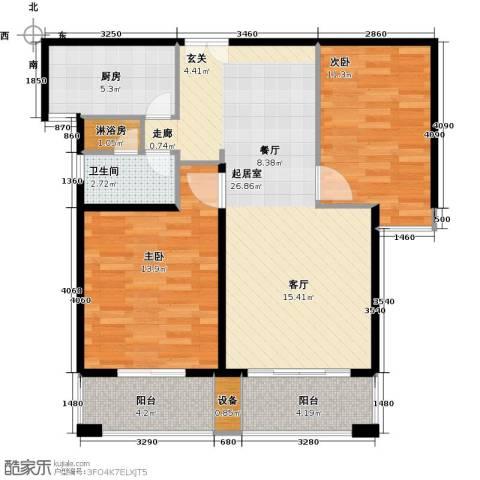 盛世御珑湾2室0厅1卫1厨78.00㎡户型图