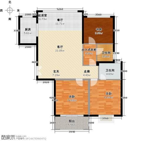 盛世御珑湾3室0厅2卫1厨114.00㎡户型图
