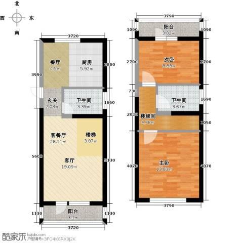 中交・金海湾2室1厅2卫0厨94.00㎡户型图