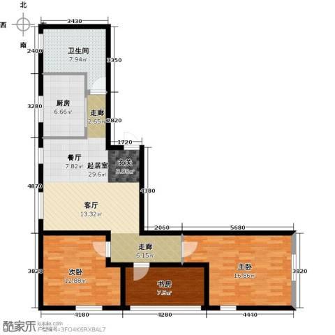 中合银帆国际3室0厅1卫1厨93.00㎡户型图