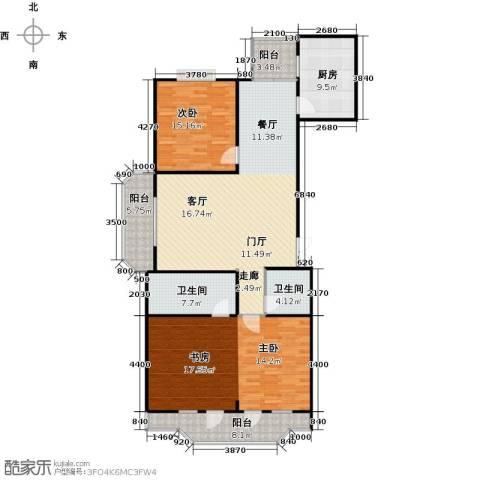 怡湖华庭澜郡2室0厅2卫1厨139.00㎡户型图