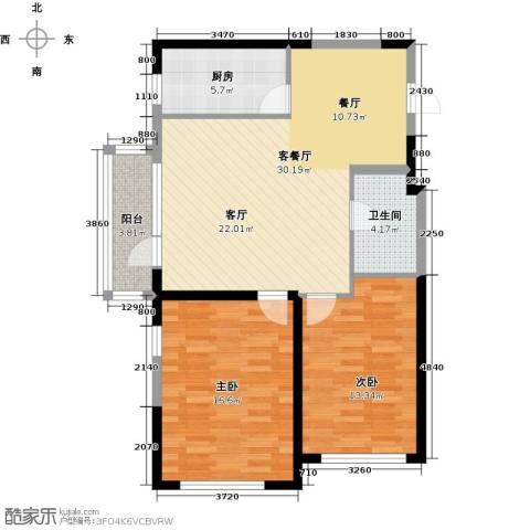 中交・金海湾2室1厅1卫1厨83.00㎡户型图
