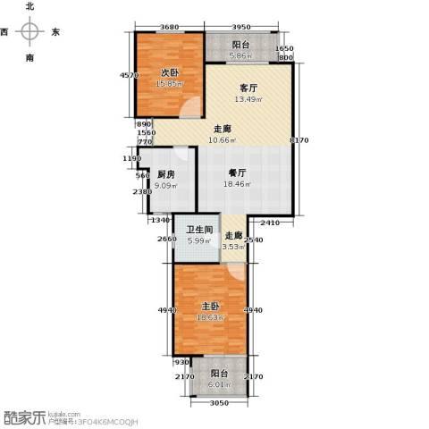 怡湖华庭澜郡2室0厅1卫1厨114.00㎡户型图