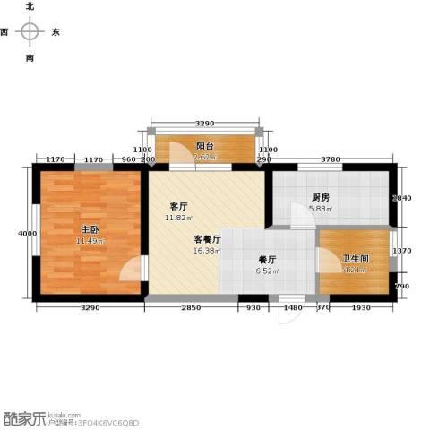 中交・金海湾1室1厅1卫1厨55.00㎡户型图