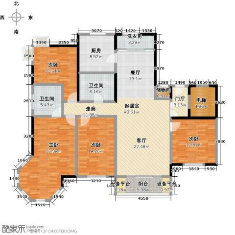 夏威夷水岸1号4室0厅2卫1厨163.00㎡户型图