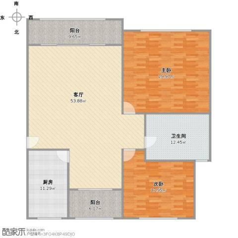 鹏丰苑2室1厅1卫1厨149.15㎡户型图