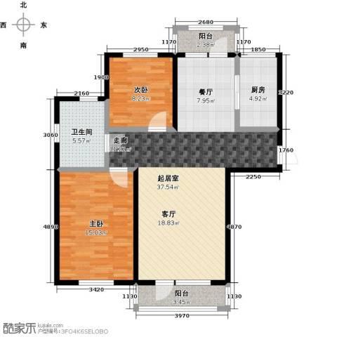 中体奥林匹克花园・蝶语湖2室0厅1卫1厨101.00㎡户型图