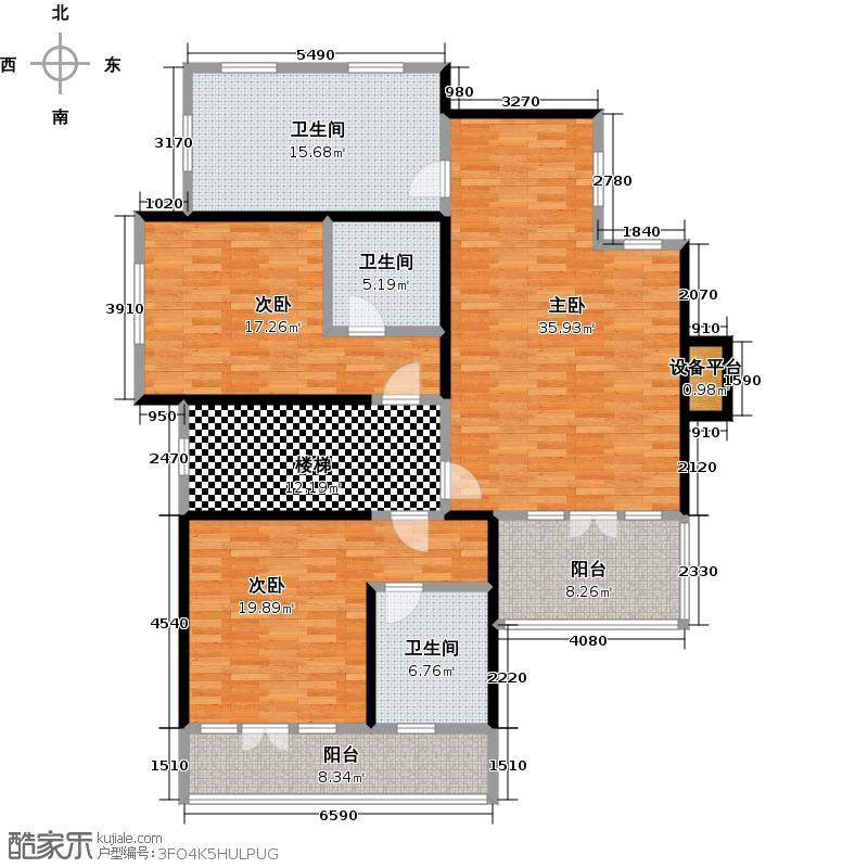 京津新城别墅熙园独栋F2户型3室3卫