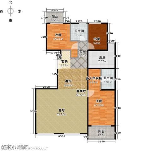 建邦枫景3室1厅2卫1厨137.00㎡户型图