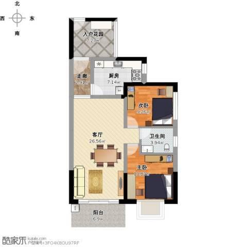 菁英时代2室1厅1卫1厨99.00㎡户型图