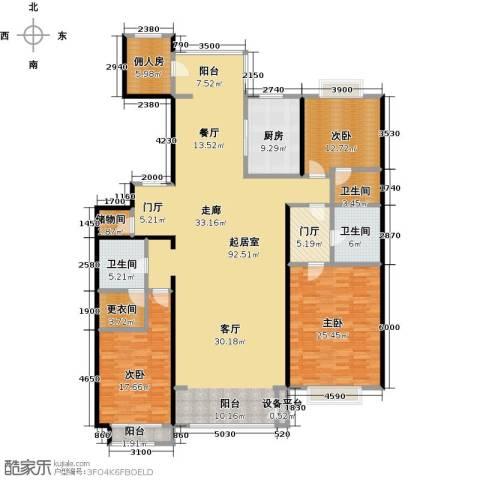 夏威夷水岸1号3室0厅3卫1厨212.00㎡户型图