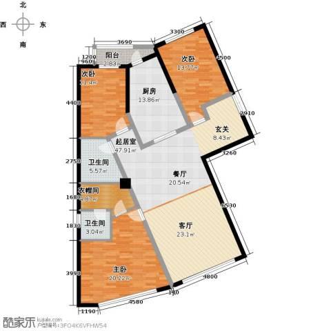 汉斯公园大道3室0厅2卫1厨176.00㎡户型图