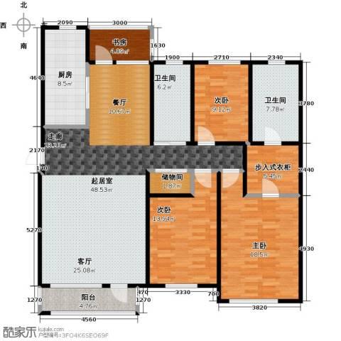 中体奥林匹克花园・蝶语湖4室0厅2卫1厨156.00㎡户型图