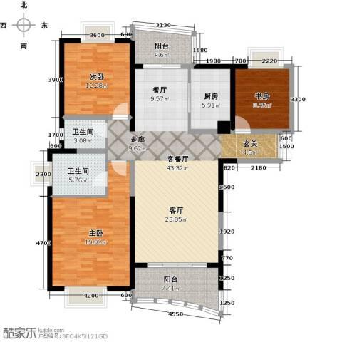 成都大魔方3室1厅2卫1厨149.00㎡户型图