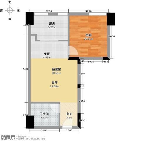 东怡外国1室0厅1卫1厨45.90㎡户型图