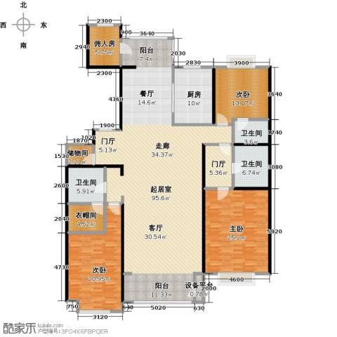 夏威夷水岸1号3室0厅3卫1厨220.00㎡户型图