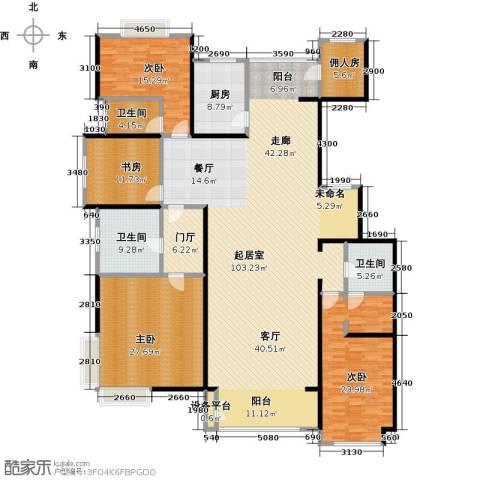 夏威夷水岸1号4室0厅3卫1厨240.00㎡户型图