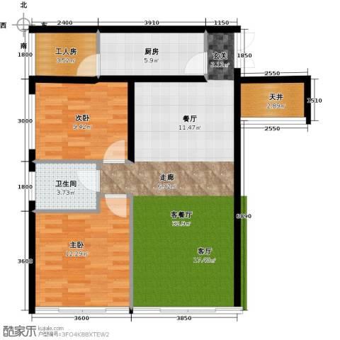 中和龙沐湾・海润源2室1厅1卫1厨105.00㎡户型图