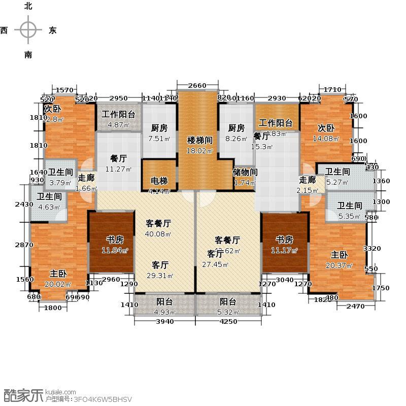 新城御景户型6室2厅4卫2厨