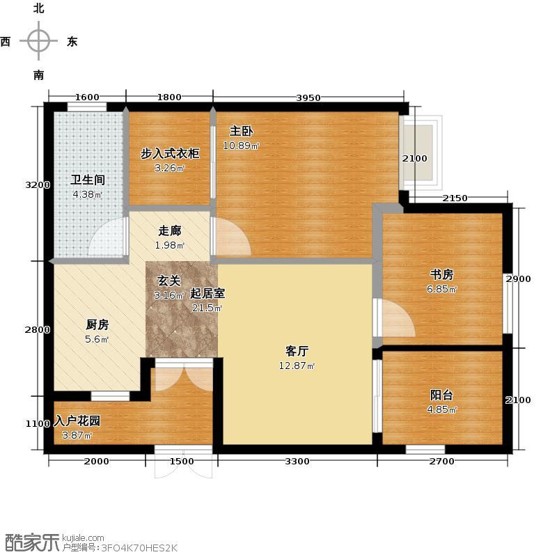 橄榄树庄园4#B2户型2室1卫