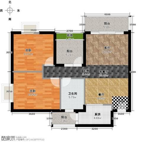 锦龙又一城2室1厅1卫1厨90.00㎡户型图