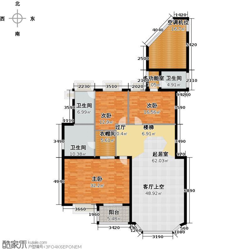 汇景新城E2街区A1栋双层02A2栋双层01户型3室3卫