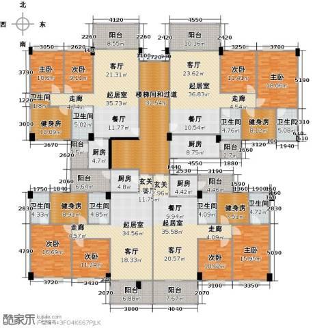 阳光雅居8室0厅8卫4厨570.00㎡户型图