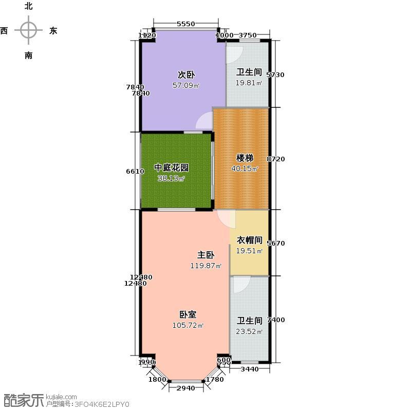 元邦山清水秀一期东区E6栋0联排C型二层户型2室2卫