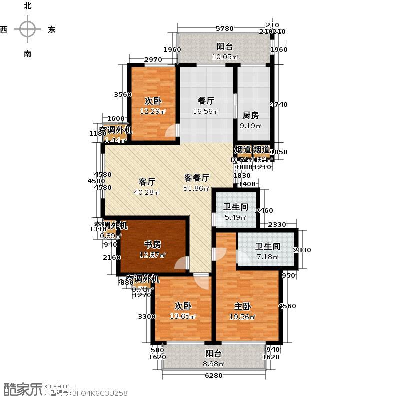 水乡华庭177.11㎡户型4室1厅2卫1厨