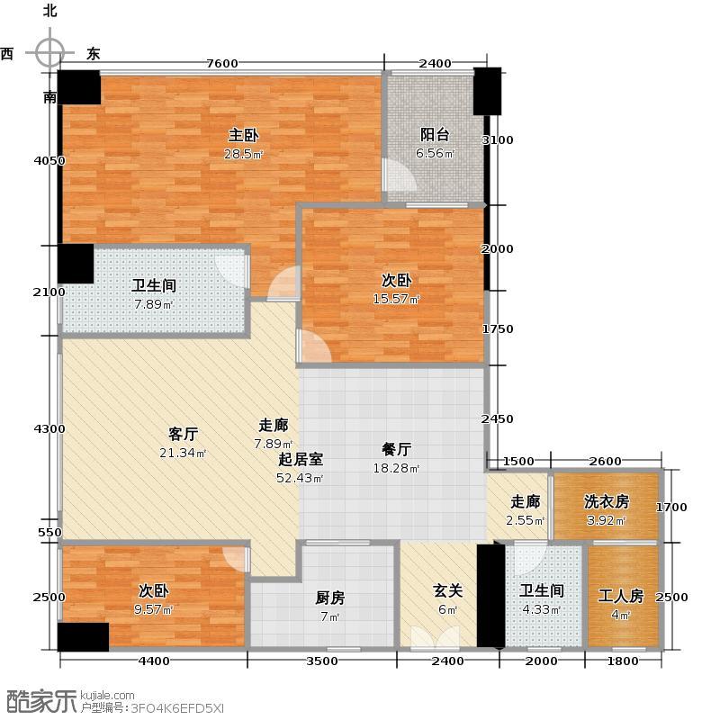 新天世纪商务中心158.00㎡C3+户型3室2卫1厨