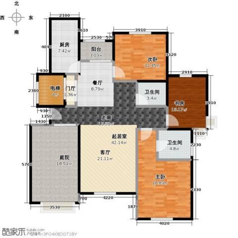 海上国际花园3室0厅2卫1厨140.00㎡户型图