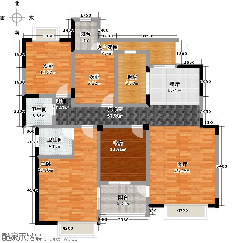 和泓四季二期洋房C4跃层户型4室1厅2卫1厨